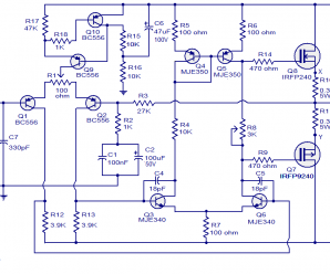100w mosfet power amplifier circuit diagram  audio amplifier