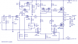100w mosfet power amplifier circuit diagram circuits99