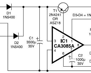 12V / 3A Regulated Power Supply Circuit by IC CA3085