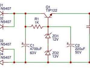 24V / 2A DC power supply circuit