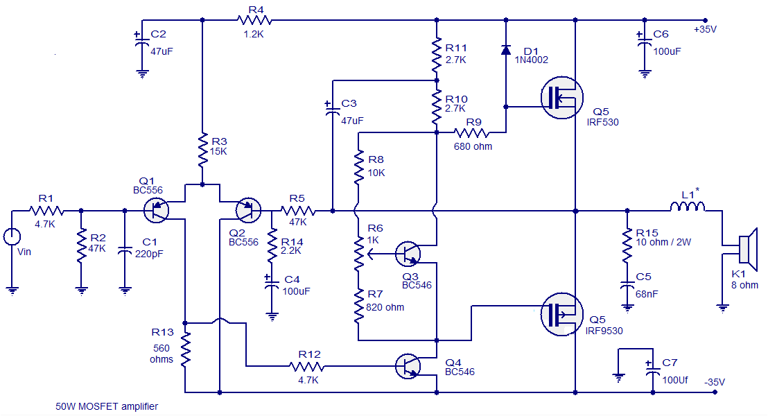 MOSFET amplifier