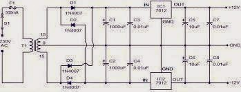 DC 12 VOLTS POWER SUPPLY CIRCUIT