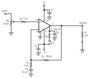 LM3886 Audio Power Amplifier