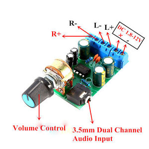 TDA2822M Stereo Audio Amplifier Circuit