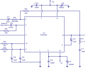 Tda7294 100w Audio Amplifier Electronic Circuits And Diagram