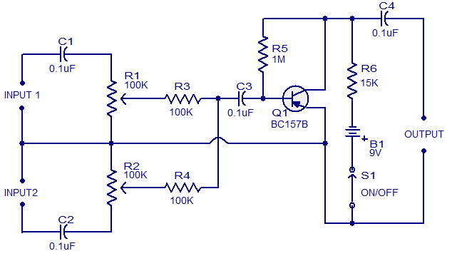 Mic Mixer Circuit Diagram