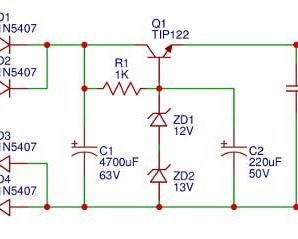 24V, 2A Power Supply Circuit for 30w Power Amplifier