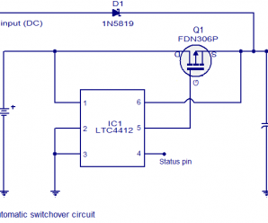 Automatic changeover Switch circuit using IC LTC4412