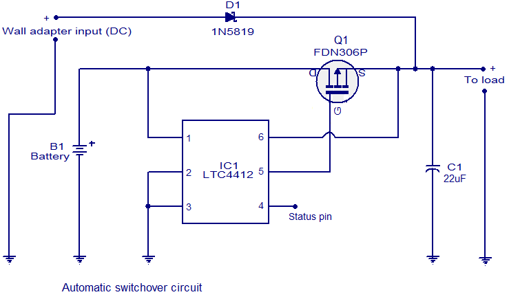 Automatic changeover Switch circuit