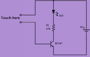 Simple Touch Sensor Circuit