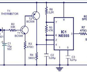 Fire Alarm Circuit using NE555 IC & Thermistor a project for school