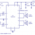 Car Stereo Audio Amplifier Circuit using TDA1553 IC