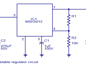 MSK5012 10A Adjustable Voltage Regulator Circuit