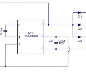 Led Torch Light Using IC MAX660 Led Circuit Diagram