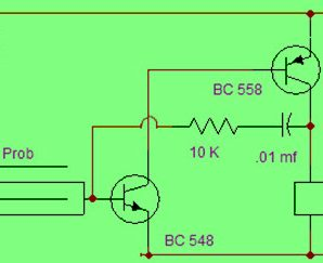 Simple Rain Alarm Circuit Diagram