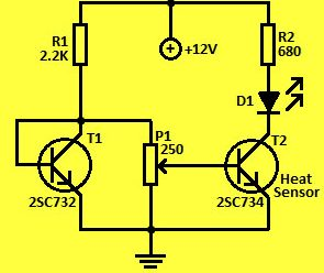 Simple Temperature Monitor Circuit