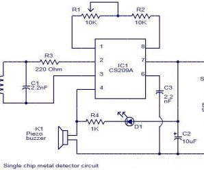 Simple Single Chip Metal Detector Circuit based on IC CS209A