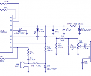 Voice Modulator Circuit using IC HT8950A